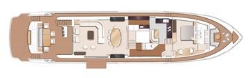 Princess 30M - Main deck