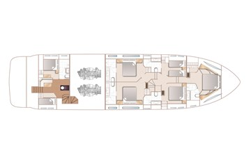 Princess 88 - Optional lower deck