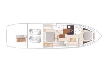 Princess V58 open - Lower deck