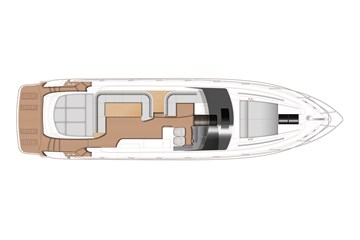 Princess V58 open - Main deck