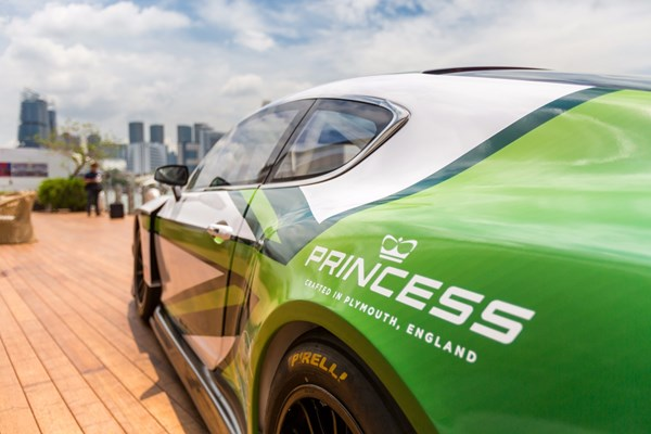 Bentley car with Princess branding