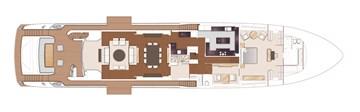 Princess 40M - Main deck